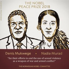 Yezidi activist Nadia Murad wins the Nobel Peace Prize