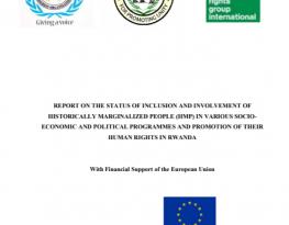 Rwanda: Final baseline study report