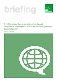 A rights-based framework for minority and indigenous languages in Africa: From endangerment to revitalization