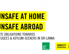 Unsafe at Home, Unsafe Abroad: State Obligations Towards Refugees and Asylum-Seekers in Sri Lanka