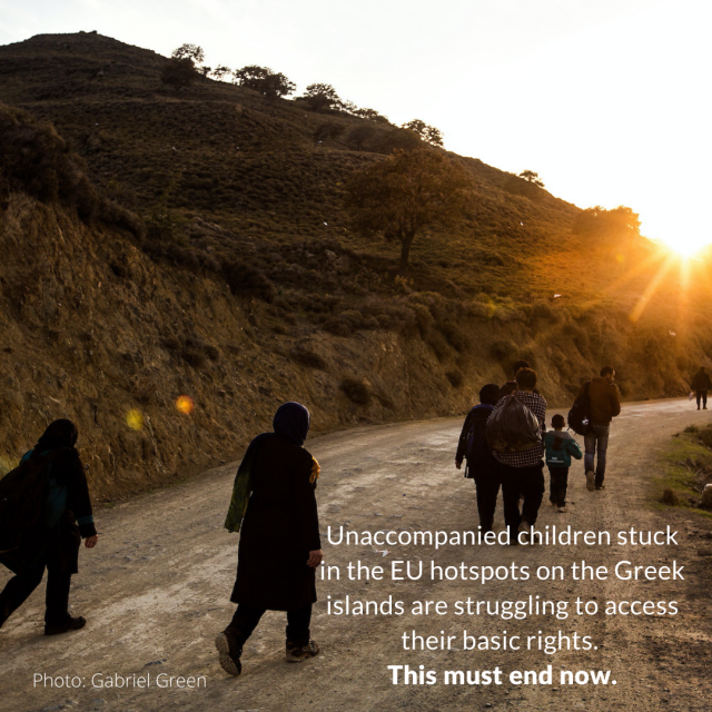 Call to Action: EU Member States Should Commit to the Emergency Relocation of Unaccompanied Children from the Greek Islands