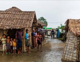 Stateless Rohingya in an internally displaced persons camp, Sittwe, Rakhine