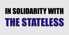 In solidarity with the Stateless