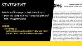 Problem of Ramseyer's Article on Buraku: from the Perspective of Human Rights and Non-Discrimination