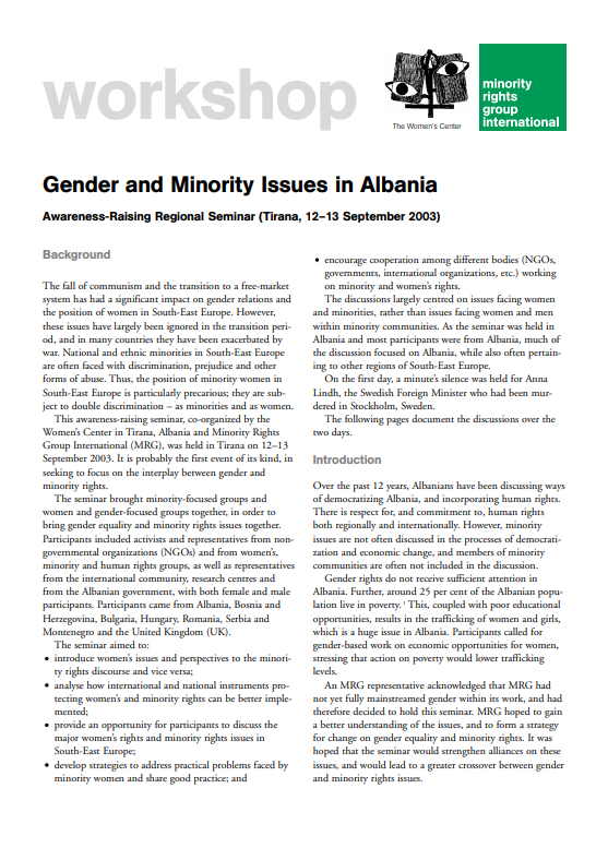 Gender and Minority Issues in Albania