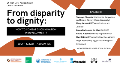 From disparity to dignity: High Level Political Forum side-event