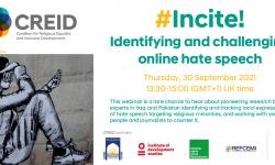 WEBINAR: #Incite! Identifying and challenging online hate speech